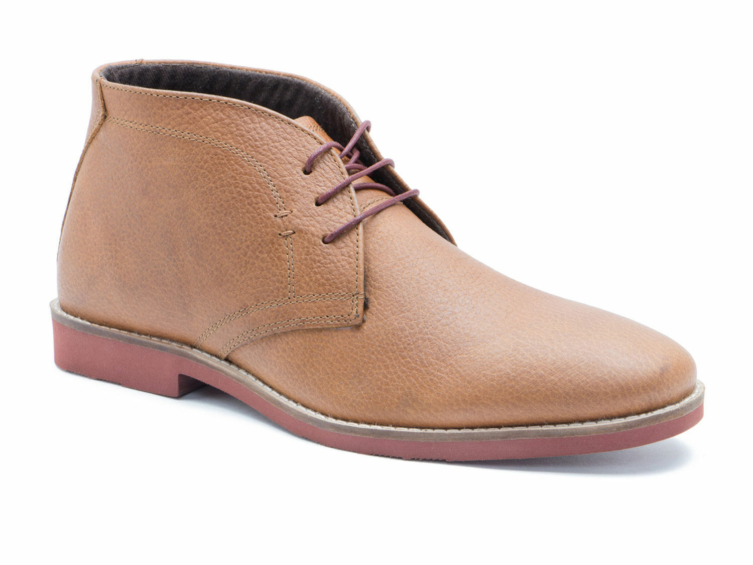 new MEN'S Red Tape Dorney Milled Honey Boots Leather Mens Brogue Desert Boots Honey size 7 508429