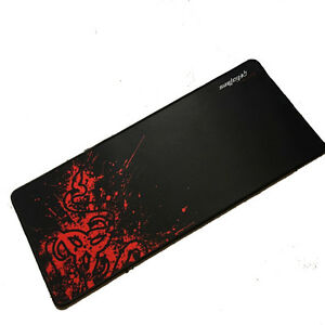 Red Razer Goliathus Fragged Large Laptop Gaming Mouse Pad