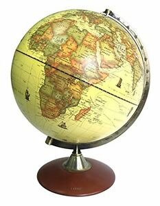 Exerz (X-Large Dia 30 CM) Antique Globe With A Wood Base