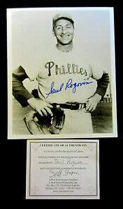 Vintage-Signed-8x10-photo-Saul-Rogovin-d-039-95-Philadelphia-Phillies