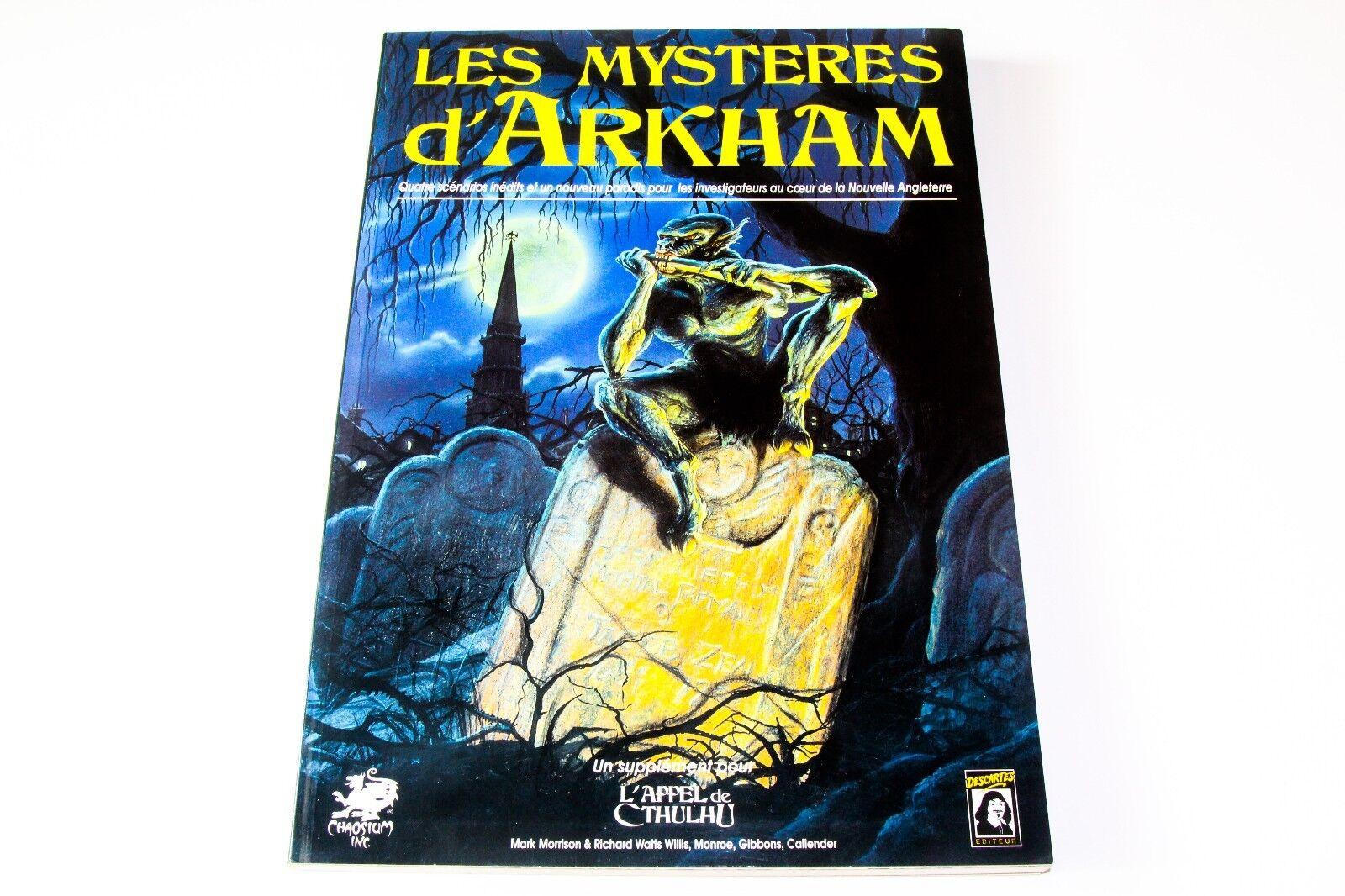 L'APPEL DE CTHULHU - - - LES MYSTERES D'ARKHAM - DESCARTES 5ea2b1