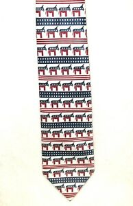 Democratic-Red-White-amp-Blue-with-Donkeys-Everywhere-Neck-Tie