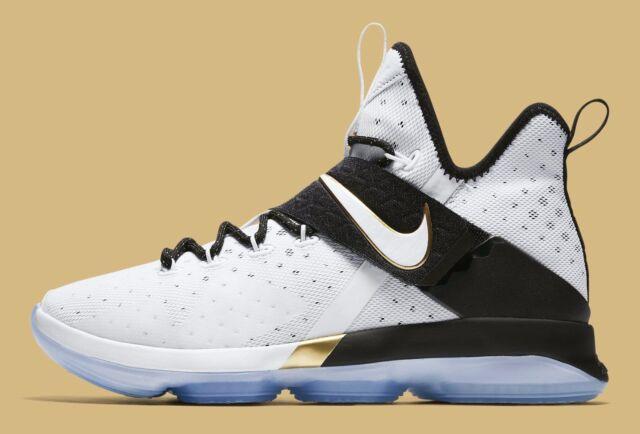 official photos 1e416 45485 Nike Lebron 14 XIV BHM White Gold Black 860634-100 Size 13