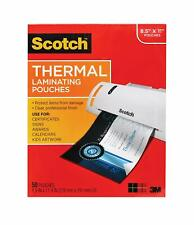 3m Scotch Thermal Laminating Pouches 3 Mil 89 X 114 50 Pack