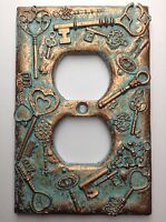 Keys Outlet Cover - Aged Copper/patina Or Stone