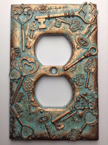 Keys Outlet Cover Aged Copper//Patina or Stone