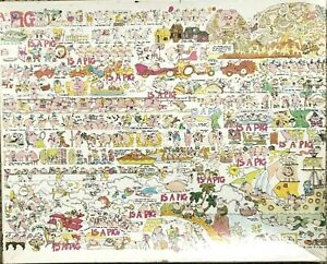 A-Pig-Is-A-Pig-Jigsaw-Puzzle-by-Sue-Sturgill-18-X-24-550-Pieces-Vintage-1980