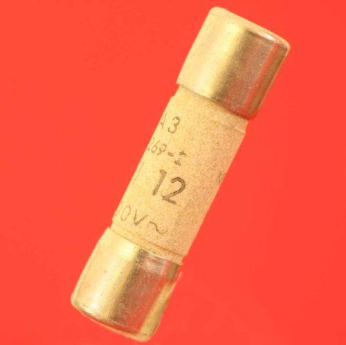 FUSIBLE CERAMIQUE 10,3x38mm 12A RAPIDE