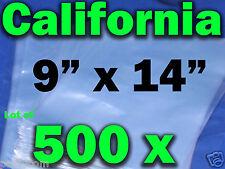 Lot Of 500 Pieces Heat Shrink Wrap Film Flat Bags 9 X14 Candles Pvc 9 X14
