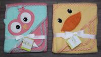 Baby Starters Hooded Bath Towel & Wash Cloth Set Duck Or Owl