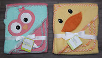 Baby Starters Hooded Bath Towel & Wash Cloth Set Duck Or Owl