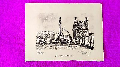 Lithography Original Simo Busom I Grau Signed Numerada 1973 Ref 7 24x18