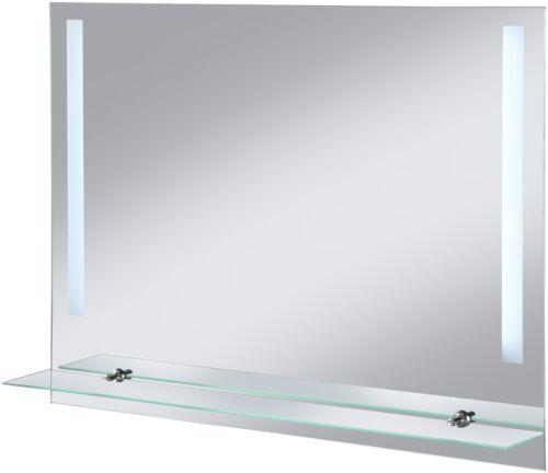 WELLTIME Badspiegel LED Flex mit Glasablage Spiegel 80 x 60 cm LED-Spiegel