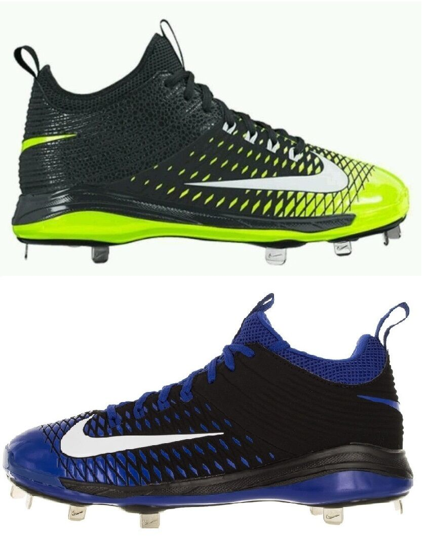 NEW Mens Nike Trout 2 Pro Metal Baseball Cleats Black/Royal Or Black/Volt