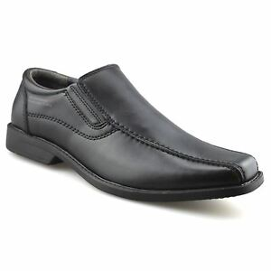 Mens-Leather-Slip-On-Casual-Smart-Office-Walking-Moccasin-Work-Loafers-Shoe-Size
