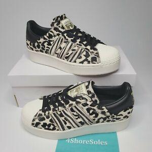 Details about NEW Adidas Superstar Bold Women's SZ 7.5 Fuzzy Animal Leopard Print FV3463 RARE