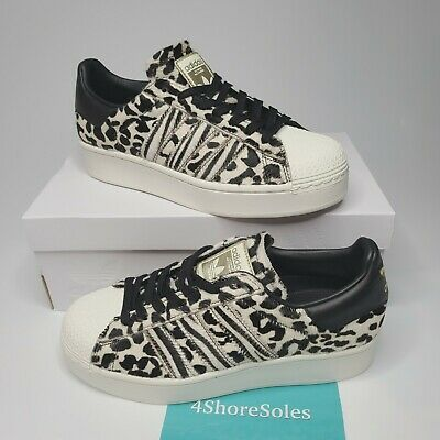 NEW Adidas Superstar Bold Women's SZ 7.5 Fuzzy Animal Leopard Print FV3463 RARE   eBay
