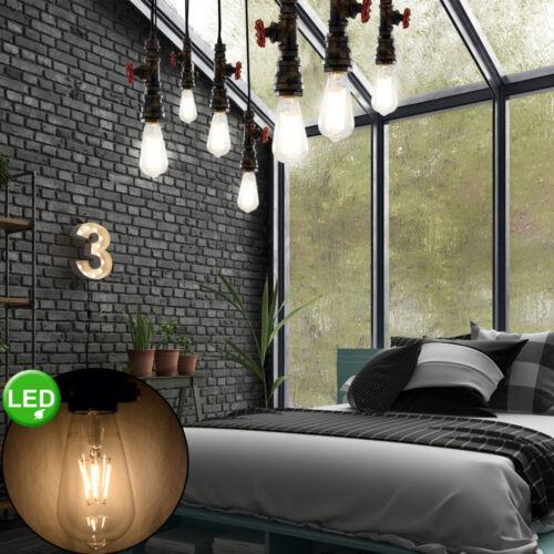 DEL Lampe Suspendu Eau Tube Design Filament Plafond Pendule variateur luminaire rouille