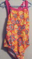 Girls Speedo 1 Pc Swimsuit Multi-color - Size 6