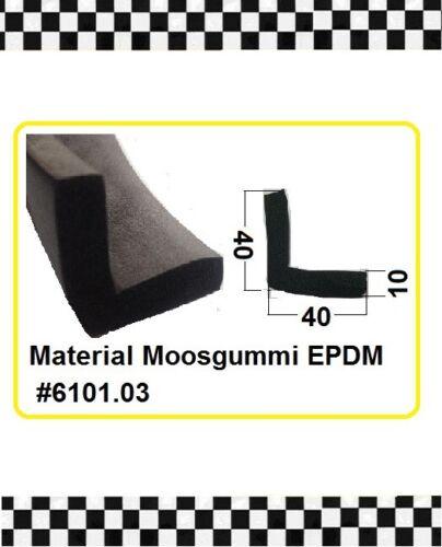 1 MUSTER Winkelprofil schwarz Aufprallschutz Moosgummi  6101.03 aus BERLIN