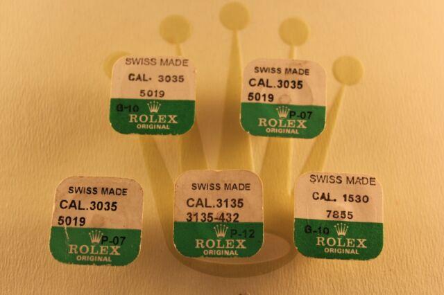 5 Rolex 3035 5019, 3135 5019,1530 7855, 432 Balance NOS Genuine FACTORY SEALED