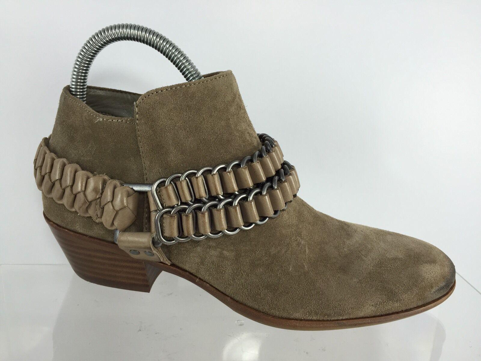 Sam Edelman Damenschuhe Braun Leder Ankle Stiefel 7.5 M