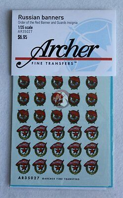 Archer 1/35 Russian Order of the Red Banner and Guards Insignia for AFVs AR35027