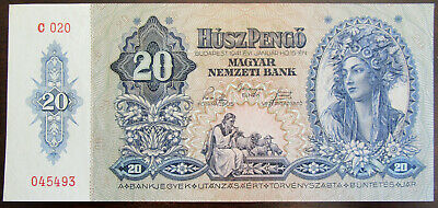 HUNGARY 20 PENGO 1941 P109 UNCIRCULATED