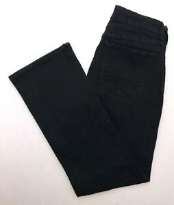 B332-NYDJ-LIFT-TUCK-Black-Bootcut-Stretch-Jeans-sz-10-Measures-28x29-034-Short
