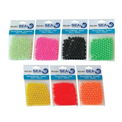 2x100 Rovex 8mm Round Beads sold in packs of 200 beads
