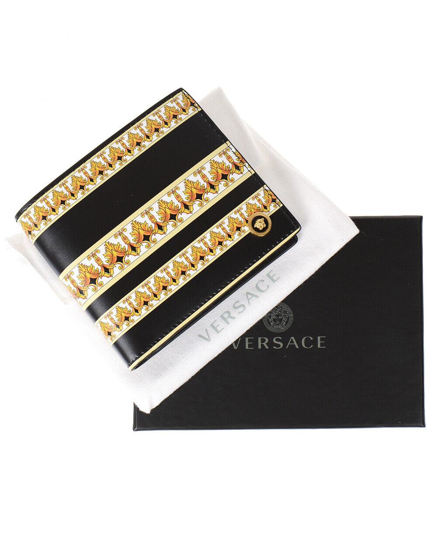 Versace Wallet Leather ITALY Man Black DPU2463 DVT5D DNMOH Sz. U MAKE OFFER