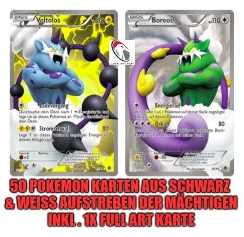 1x FULL ART 50 Pokemon Karten aus Schwarz /& Weiss Aufstreben der Mächtigen inkl