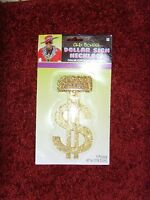Halloween Or Party Costume Jewelry Accessory Nip Old School Dollar Sign Necklace