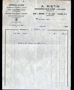 MENNETOU-sur-CHER-41-CUIRS-PEAUSSERIE-amp-CHROME-034-A-RISTIN-034-en-1931