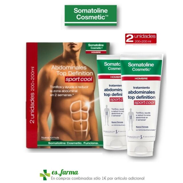 SOMATOLINE HOMBRE DUPLO ABDOMINALES TOP DEFINITION SPORT COOL PACK 2 X 200ML