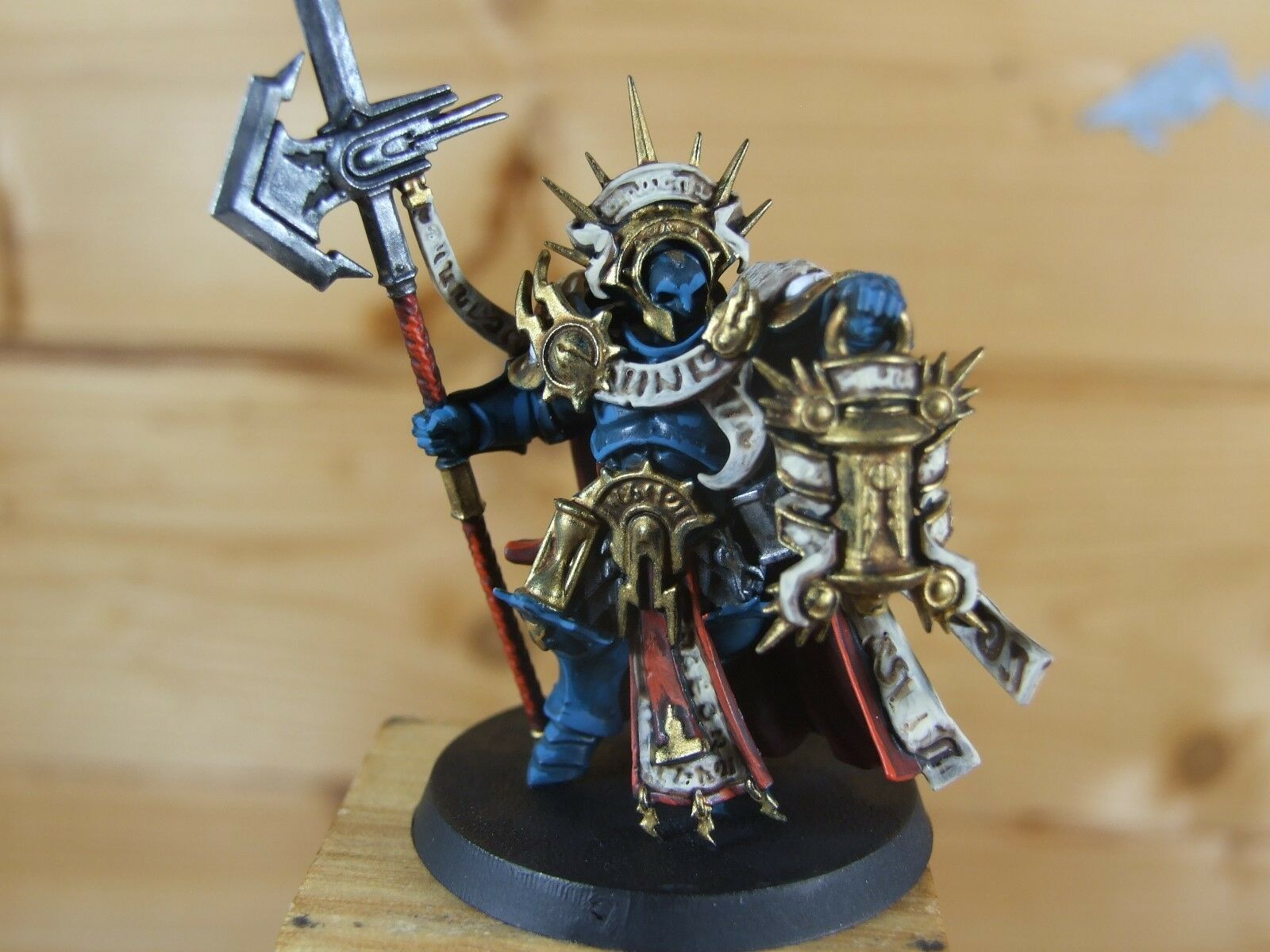 PLASTIC WARHAMMER STORMCAST ETERNAL LORD CASTELLANT WELL PAINTED (059)