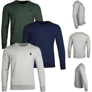 New-Mens-Summer-Sweatshirt-Sweat-Jumper-Plain-Pullover-Casual-Top-Work-Jersey