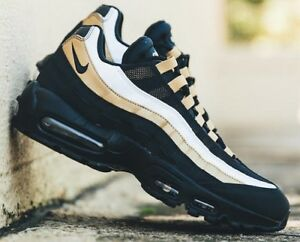 f737ad7be0 NIKE AIR MAX 95 OG AT2865-002 Black Metallic Gold Men's Sneakers ...