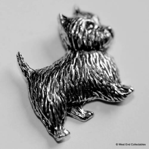 West Highland Terrier Pewter Pin Brooch Dog Gift Present British Handcrafted