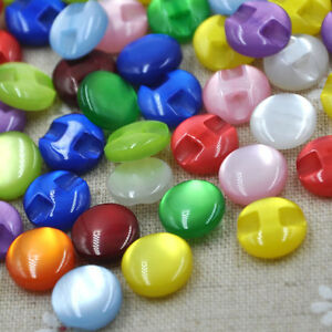 New-10-50-100pcs-Cat-039-s-Eye-button-craft-sewing-baby-lot-mix-PT82