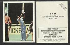 AUSTRALIA 1983 SCANLENS CRICKET STICKERS SERIES 2 - KAPIL DEV (INDIA) # 112