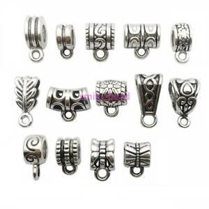 120-Pcs-Tibetan-Silver-Metal-Spacer-Bead-Connectors-Charms-Pendants-DIY-Making