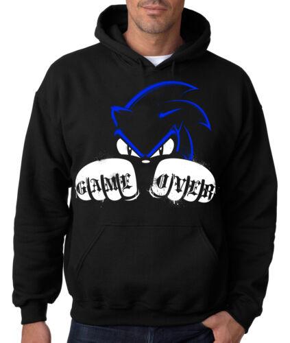 SONIC GAME OVER HOODIE The Hedgehog Hooded Sweatshirt Gamer Sega Videogame Game