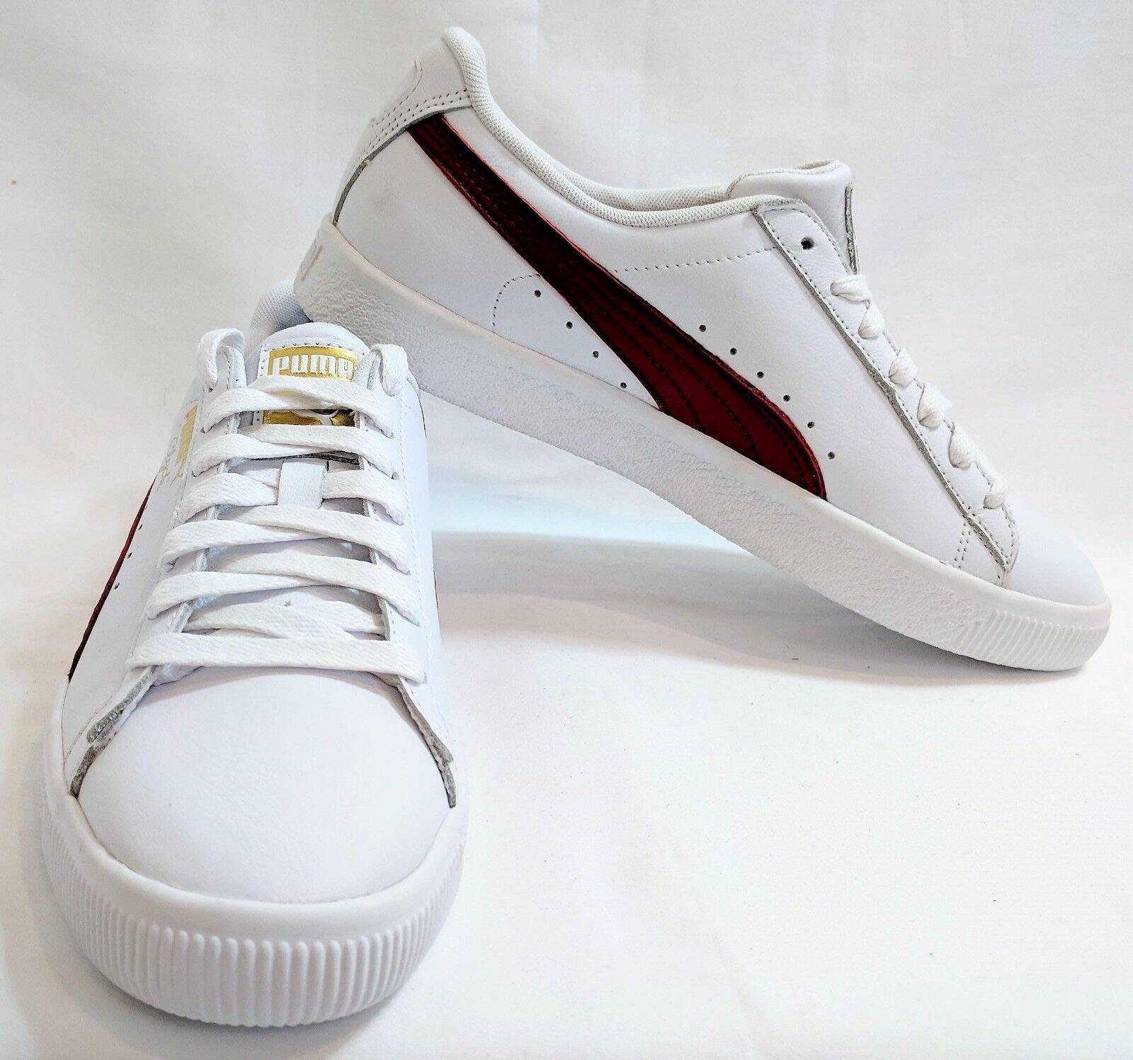 Puma hombre Clyde zapatillas - blanco / cherry 8 / oro - US 8 cherry ca99d7
