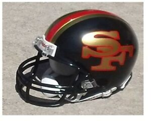 San Francisco 49ers Concept Black Mini Football Helmet Ebay