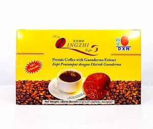 2 Boxes DXN Lingzhi Black Coffee 2 in 1 Ganoderma Coffee Reishi ... fbd1ce7cad