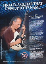 1997 Larry Carlton Standard Limited Edition Valley Arts guitar photo print Ad