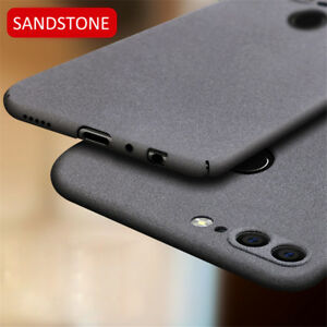 For-Huawei-P8-P9-P10-P20-Lite-Luxury-Sandstone-Case-Slim-Hard-amp-Soft-Back-Cover