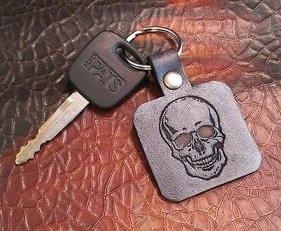 C16 Charm Biker Dices Holder Leather Key Ring Keychain Multi Key Holders Black