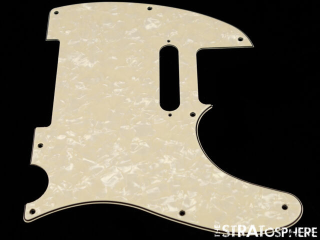Musiclily 8 Hole Guitar Pickguard Scratch Plate for Fender USA//Mexican Telecaster Tele Esquire,Cream 3Ply